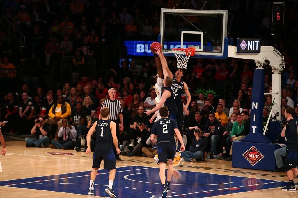 BYU vs. Valparaiso, NIT Basketball, New York City, Mar. 29, 2016. | Photo courtesy BYU Photo
