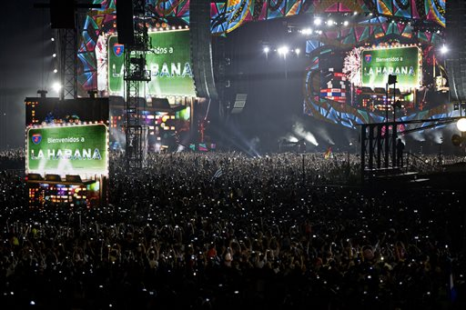 Thousands gathered at the Ciudad Deportiva as the Rolling Stones perform in Havana, Cuba, Friday. The Stones performed in a free concert in Havana Friday, becoming the most famous act to play Cuba since its 1959 revolution. Havana, Cuba, March 25, 2016 | AP Photo by Ramon Espinosa, St. George News
