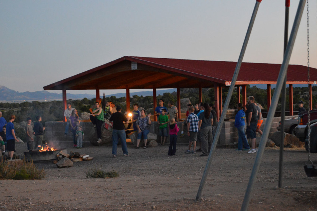 Jeremy Johnson Speaks to a Crowd at Three Peaks, Iron County, Utah, 2015 | Photo courtesy of Lee Ricci, St. George News