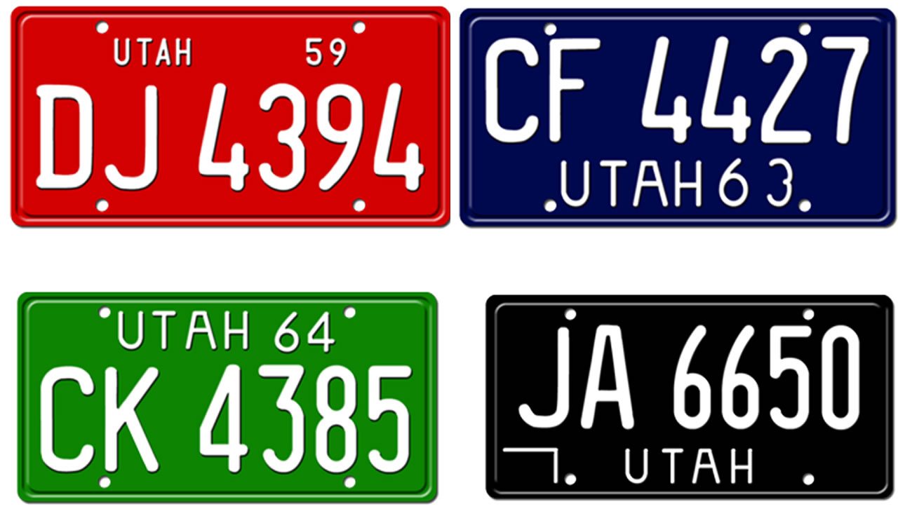 Utah special license plate goes mainstream; license plates from ...