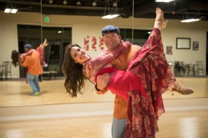 """Community star Ben Shakespeare and his professional partner Camille Bahoravitch pose for promotional material for """"Dancing with your Community Stars."""" St. George, Utah, date not specified   Photo courtesy of David Cordero, St. George News"""