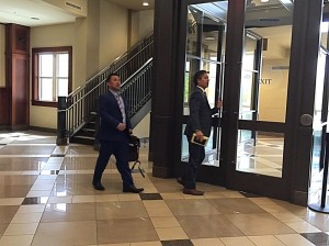 Defense attorneys leave the courthouse following a status hearing held in federal court for 11 members of the Fundamentalist Church of Jesus Christ of Latter Day Saints named in a federal indictment case alleging the 11 defendants took part in a multimillion-dollar food stamp fraud and money laundering scheme, St. George, Utah, March 22, 2016 | Photo by Kimberly Scott, St. George News