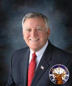 Composite image: Ron Hicks, national president of the Elks Lodge and the official symbol of Benevolent and Protective Order of Elks. | Courtesy Virginia Elks Association and Benevolent and Protective Order of Elks, St. George News