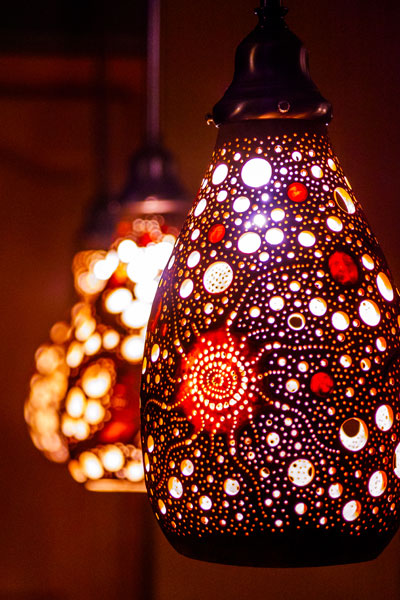 Gourd lamps created by Ron Poole, a St. George artist. Undated   Photo courtesy of Nick Adams, St. George News