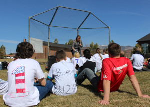 4-H Club coordinator Heidi Baxley uses trail mix to teach youth about diverse ppersonalities they will encounter in life, Cedar Middle School, Cedar City, Utah, March 16, 2016   Photo by Carin Miller, St. George News