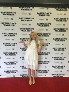 Caroline Labrum at the early opening of Saturday's Warrior in Sandy, Utah, March 30, 2016 | Photo by Inger Labrum, St. George News