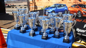 Trophies at the 16th annual SkyWest Mini Indy race in St. George, Utah, Mar. 18, 2016 | Photo by Don Gilman, St. George News