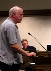 Firearms instructor Blaine Nay speaks to Cedar City Council about the firearm ordinance amendments, Council Chambers, Cedar City, Utah, March 2, 2016 | Photo by Carin Miller, St. George News