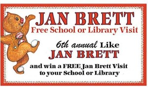 A flyer announcing a contest to win a visit from children's author and illustrator Jan Brett, location and date not specified | Flyer courtesy of Carolanne Simkins, St. George News