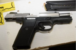 A photo of Lavoy Finicum's 9mm Ruger authorities said they recovered from an inside Finicum's jacket pocket after he was shot, photo location and date unspecified | Photo courtesy of Deschutes County Sheriff's Office, St. George News