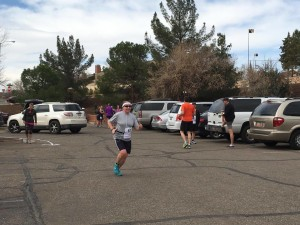 A runner for Team Utah Foster Care makes her way to the exchange point during the Lake to Lake Relay, St. George, Utah, March 5, 2016 | Photo by Hollie Reina, St. George News