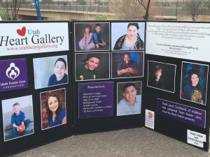 A poster informing runners and spectators about the Heart Gallery is on display at the runner exchange during the Lake to Lake relay, St. George, Utah, March 5, 2016 | Photo by Hollie Reina, St. George News