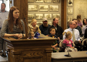 Candace Schaible discusses the future home of the Downtown Cedar City's Farmers Market, Cedar City Council Chambers, Cedar City, Utah, March 23, 2016 | Photo by Carin Miller of Utah Highway Patrol, St. George News
