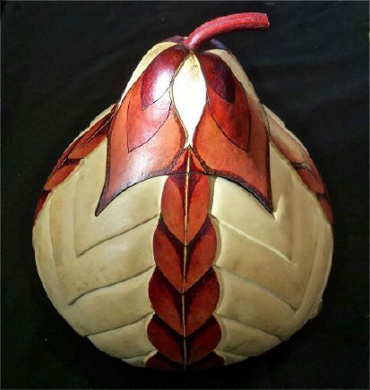 Vessel with Lid- Gourd by Mary Curtis | Photo courtesy of Southern Utah Art Guild, St. George News