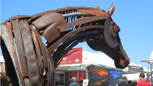 Sculpture by Matt Clark, featured artist of the 37th Annual St. George Art Festival, St. George, Utah, March 25, 2016 | Photo by Julie Applegate, St. George News