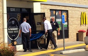 Police responded to McDonald's restaurant, 1235 S. Bluff Street, on a report of a man discovered hanging in the bathroom, St. George, Utah, March 18, 2016 | Photo by Kimberly Scott, St. George News