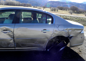 A spinout on I-15 Wednesday morning blocked the left lane of southbound I-15 forabout 30 minutes, Washington County, Utah, March 9, 2016 | Photo by Carin Miller, St. George News