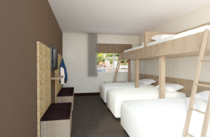 A rendering of a bunk room in the Rising Star Ranch Resort set to open in Mesquite, Nevada, date not specified | Rendering courtesy of Rising Star Sports Ranch Resort, St. George News