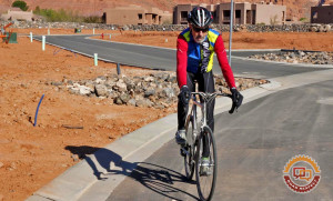Roads have many hazards for motorists and cyclists alike. When seeking a safe opportunity to pass a cyclist, a motorist must, by law, allow at least three feet. Providing more than 3 feet when passing, if it is safe to do so, will allow the cyclist to move into the roadway to avoid an upcoming road hazard, Ivins, Utah, date not specified   Photo by Tim Tabor, St. George News