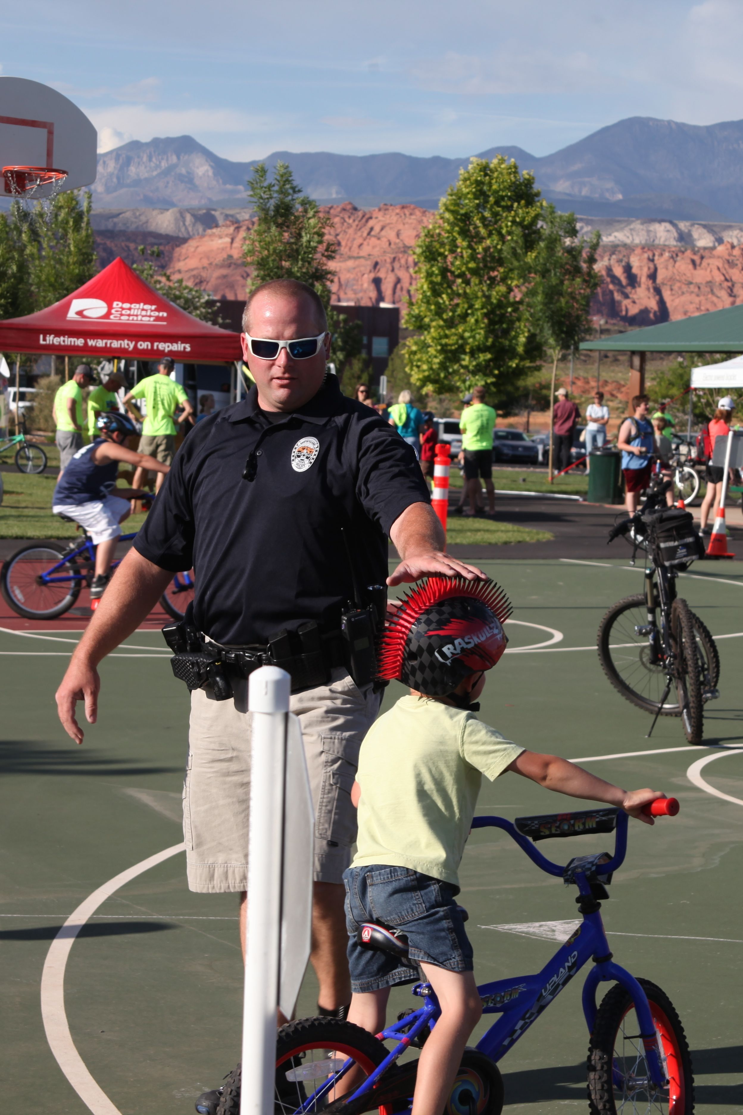 Road Respect bike rodeo event led by Santa Clara/Ivins Police, Santa Clara Utah, Date not given| Photo courtesy of Megan Rasmussen, St. George News