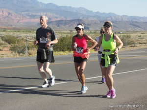 This photo from 2015 shows runners on the course of the Sand Hollow Marathon, Hurricane, Utah, circa March 2015 | Photo courtesy of Red Dog Events, St. George News