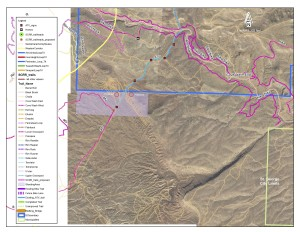 Two red circles show possible locations of a new shooting area near Santa Clara, Utah | Image courtesy of Washington County, St. George News