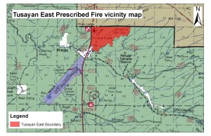Tusayan Burn Map | Photo courtesy of Kaibab National Forest Services, St. George News