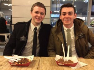 L-R, Elder Mason Wells, 19, Elder Joseph Empey, 20, pictured on their mission for The Church of Jesus Christ of Latter-day Saints, location and date not specified | Photo courtesy of the Empey family, St. George News