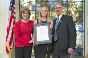 Whitney Sutton awarded the Navin Narayan Award for Excellence in Youth Leadership. American Red Cross National Headquarters.Washington, D.C., Mar. 9, 2016| Photo courtesy of Dennis Drenner, American Red Cross, St. George News