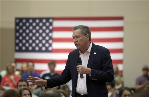 Republican presidential candidate Ohio Gov. John Kasich speaks at a town hall event at Utah Valley University, Friday. Oren, Utah, March 18, 2016, in Orem, Utah |AP Photo by Kim Raff; St. George News