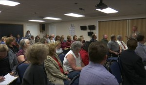 A crowd of 60-70 people attended an open house Tuesday to discuss a proposed Washington County Animal Shelter, St. George, Utah, March 29, 2016 | Photo by Sheldon Demke, St. George News