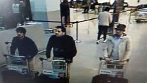 In this image provided by the Belgian Federal Police in Brussels on Tuesday, March 22, 2016 of three men who are suspected of taking part in the attacks at Belgium's Zaventem Airport. The man at right is still being sought by the police and two others in the photo that the police issued were according to a the Belgian Prosecutors 'probably' suicide bombers. Bombs exploded at the Brussels airport and one of the city's metro stations Tuesday, killing and wounding scores of people, as a European capital was again locked down amid heightened security threats, Brussels, Belgium, March 22, 2016 | Belgian Federal Police via AP, St. George News