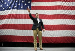 Republican presidential candidate, Sen. Ted Cruz, R-Texas, waves as he is introduced at a campaign rally for Sen. Mike Lee, R-Utah, Draper, Utah, March 19, 2016 | AP Photo/John Locher, St. George News