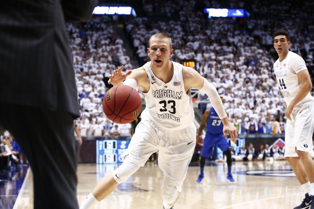 Nate Austin, BYU vs. Creighton, NIT, Provo, Utah, Mar. 22, 2016 | Photo by BYU Photo