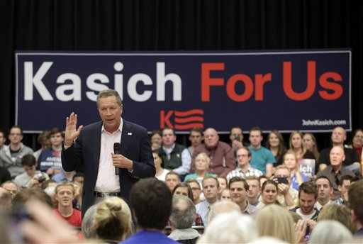 Republican presidential candidate Ohio Gov. John Kasich speaks at a town hall event at Utah Valley University, Friday in Orem, Utah, March 18, 2016 | AP Photo by Kim Raff, St. George News