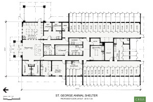 Floor plan of the proposed county animal shelter | Image courtesy of Washington County Commission, St. George News