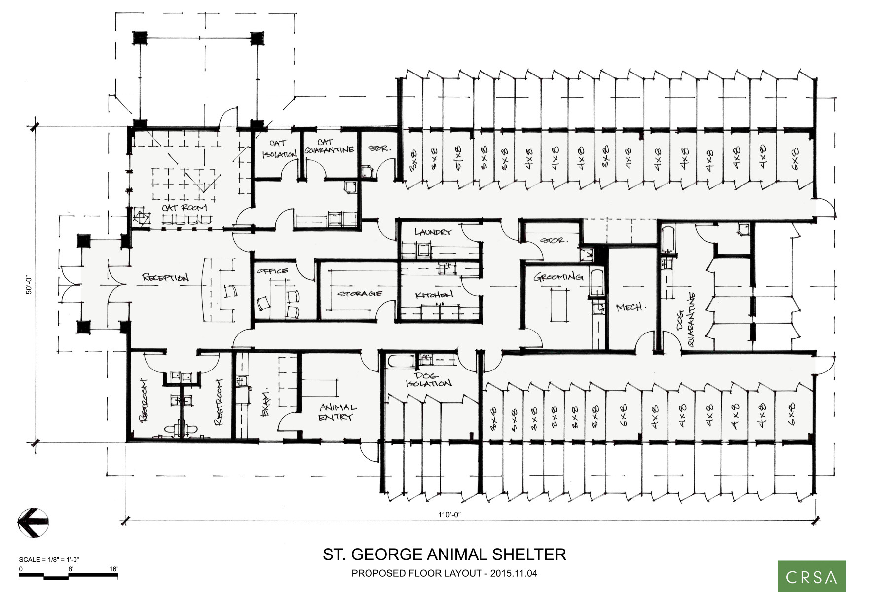 Layout of animal house