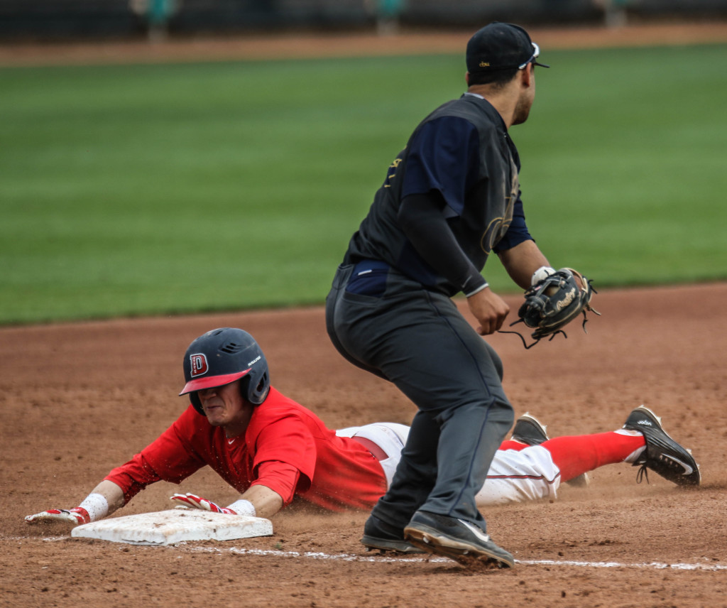 Dixie State's Miles Bice (1), Dixie State University vs.  California Baptist University, Baseball,  St George, Utah, Mar. 5, 2016, | Photo by Kevin Luthy, St. George News