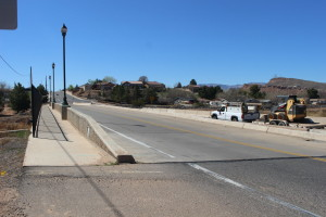 As a part of the River Road widening project, a portion of the bridge over Fort Pearce Wash will be demolished and replaced, St. George, Utah, March 10, 2016 | Photo taken by Mori Kessler, St. George News