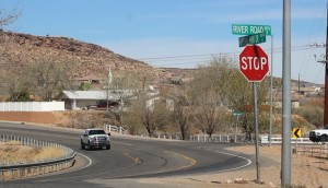 Work is anticipated to begin on a southern portion of River Road connecting to the Little Valley area around the end of March that will widen the road to five lanes. A traffic light will also be installed in at the intersection of River Road and Horseman Park Drive as a part of the project, St. George, Utah, March 10, 2016 | Photo taken by Mori Kessler, St. George News
