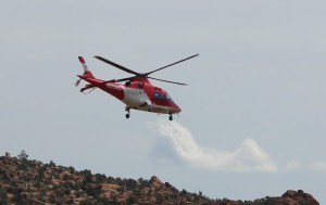 Members of the Washington County Search and Rescue team were sent to Snow Canyon State Park for two 15-year-old girls had fallen approximated 30 or more feet from a ledge. One was taken to the hospital by ambulance, while the other was taken by Life Flight helicopter, Snow Canyon State Park, Ivins, Utah, March 14, 2016 | Photo by Mori Kessler, St. George News