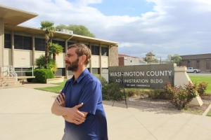Josh Warburton, longtime publisher of The Independent, has thrown his hat into the race for the Washington County Commission, St. George, Utah, March 22, 2016 | Photo by Mori Kessler, St. George News