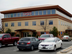 A business at the Morningside Professional Plaza was burglarized Thursday night, the latest in a string of business burglaries that have occurred this week in St. George, Utah, March 11, 2016   Photo by Julie Applegate