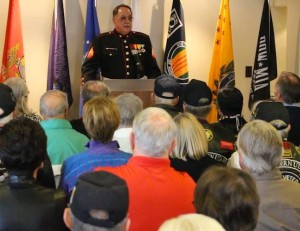 Bruce Raftree speaks to the assembled Vietnam veterans Tuesday afternoon, St. George, Utah, March 29, 2016 | Photo by Mike Cole, St. George News