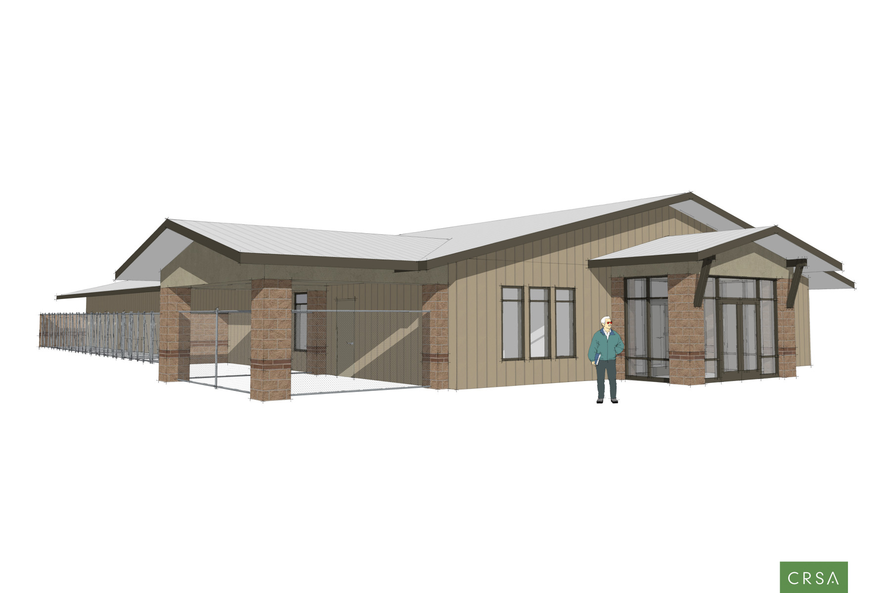 Architectural rendering of the proposed county animal shelter | Image courtesy of Washington County Commission, St. George News