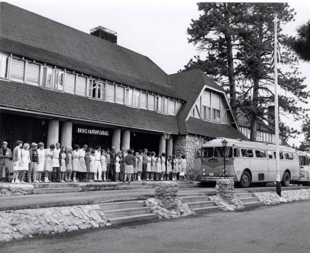 Singaway at the Bryce Canyon Lodge, Bryce, Utah, circa 1950s | Photo courtesy of Frontier Homestead State Park, St. George News