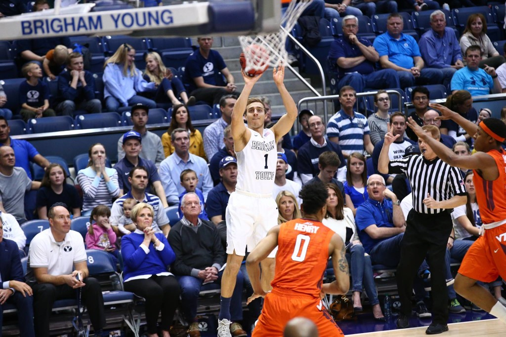 Chase Fischer, BYU vs. Virginia Tech, NIT Basketball, Provo, Utah, Mar. 18, 2016. | Photo by BYU Photo