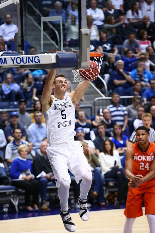 Kyle Collinsworth, BYU vs. Virginia Tech, NIT Basketball, Provo, Utah, Mar. 18, 2016.   Photo by BYU Photo