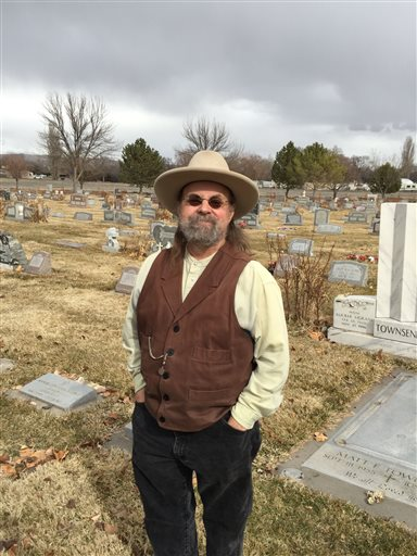 Dave Fishell, a local historian and gun collector, stands in a cemetery in Grand Junction, Colorado, after helping locate the tombstone of a suicide victim. Fishell says he contemplated suicide during past battles with depression. He's now doing suicide-prevention outreach with gun shops and shooting ranges in the area. Grand Junction, Colorado, circa February-March, 2016 | AP Photo by David Crary, St. George News