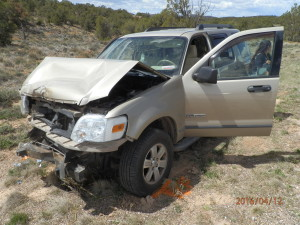 Two women were transported to Valley View Medical Center following a Tuesday afternoon rollover, state Route 56 milepost 38, Iron County, Utah, April 12, 2016 | Photo courtesy of Utah Highway Patrol, St. George News